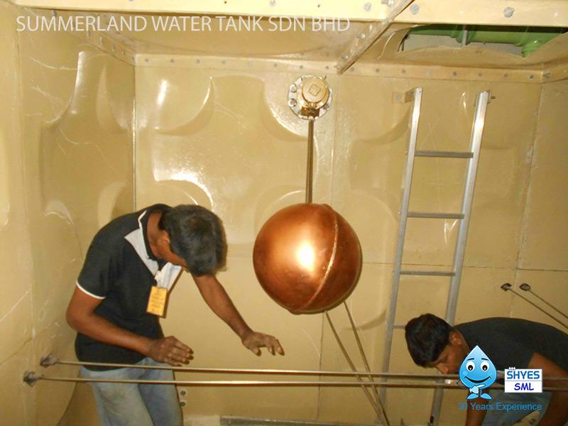 Float Valve Installation in Water Tank