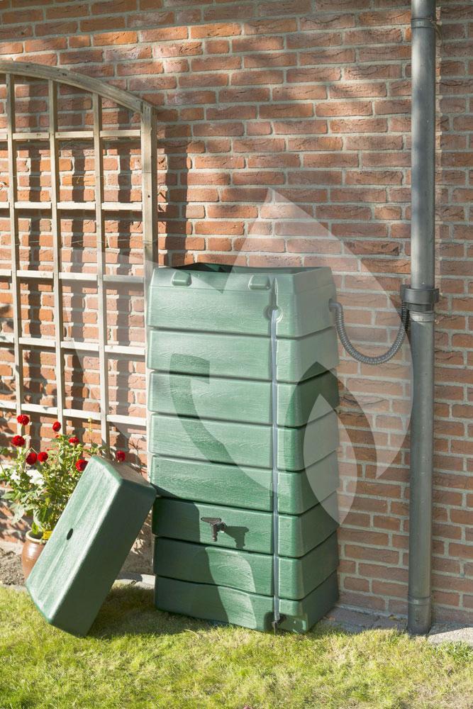 Nature Design regenton met peilstok 320 liter groen