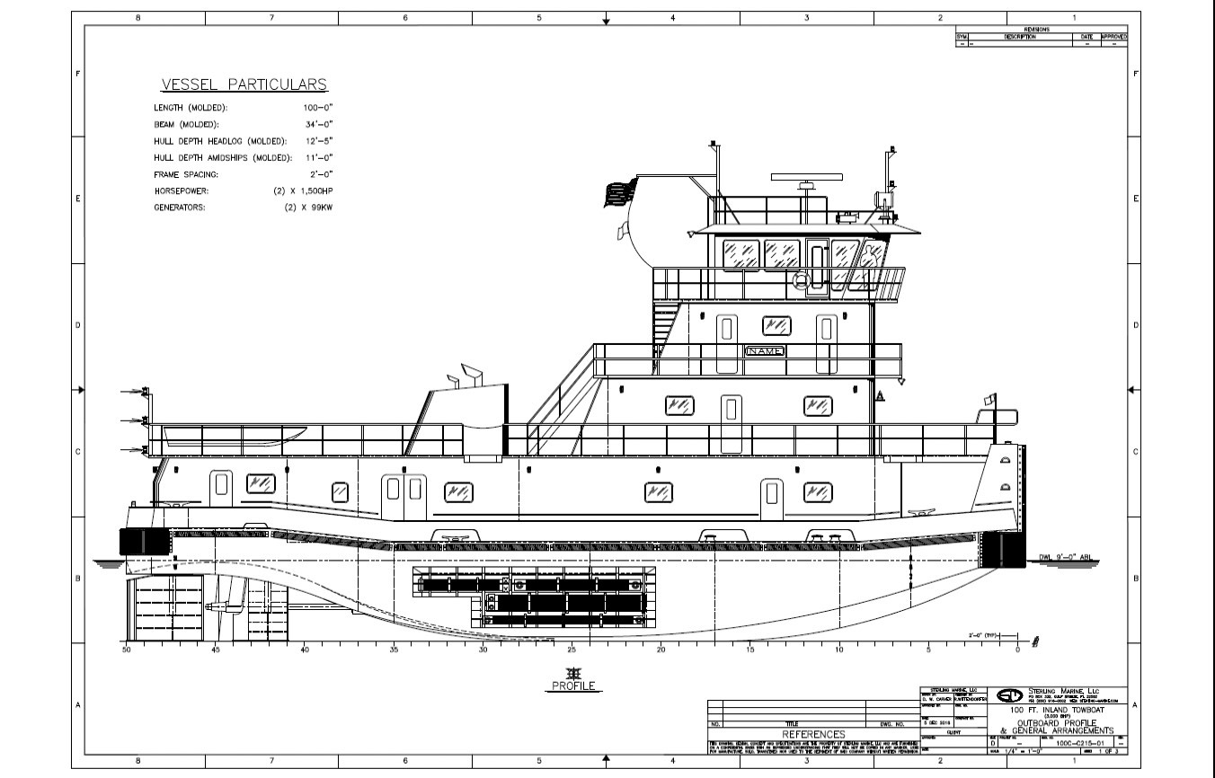 hight resolution of enterprise embarks on towboat barge build program the waterwaysdrawing of a forthcoming enterprise towboat a