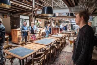 De gelagzaal van stadsbrouwerij Gruut. - Foto: Wannes Nimmegeers