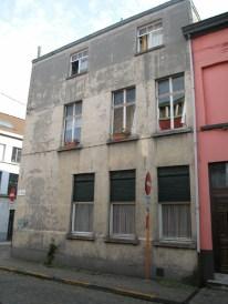 Gelukstraat 21-25 (zijgevel). Foto: Dirk Boncquet, juni 2003.