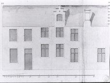 zijgevel - hoek met Gelukstraat - vierde kwart zeventiende eeuw. Beeld: Dienst Monumentenzorg, opname: 1995