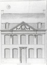 voorgevel - vierde kwart achttiende eeuw - bouwaanvraag SAG R 535/73-8 (1776). Beeld: Stadsarchief Gent, opname: 1995