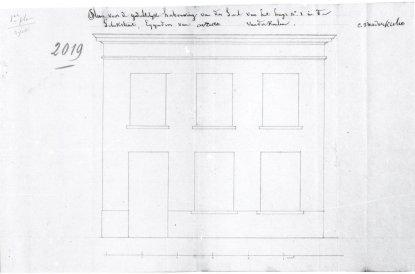 voorgevel - tweede kwart negentiende eeuw - bouwaanvraag SAG G12 2019 (1837). Beeld: Stadsarchief Gent, opname: 1995