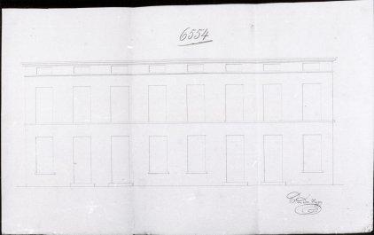 voorgevel - tweede kwart negentiende eeuw - bouwaanvraag SAG G12 nr 6554 (1846). Beeld: CMS, opname: 1995