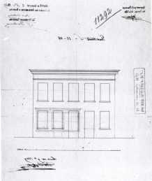 1869 - gevelplan - derde kwart negentiende eeuw - bouwaanvraag SAG G12 11292 (1869). Beeld: Stadsarchief Gent