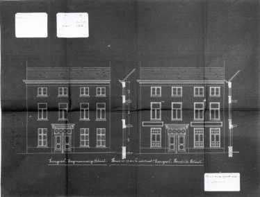 1912 - gevelplan - bouwaanvraag SAG G12 1912 - O2. Beeld: Stadsarchief Gent, opname: 1995