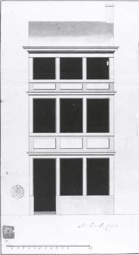 1787 - voorgevel - vierde kwart achttiende eeuw - SAG 535-285/17 (1787). Beeld: Stadsarchief Gent, opname: 1995