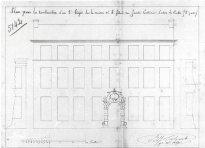 voorgevel - eerste kwart negentiende eeuw - SAG G12 nr. 5142 (1817) - 'Construction d'un 2° étage'. Beeld: Stadsarchief Gent, opname: 1995