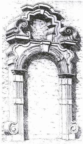 deuromlijsting - Museum voor Stene Voorwerpen - in 1892 afgebroken - Inventaire Archéologique de Gand, 1903, fiche nr. 309 - A. Heins. Beeld: Boncquet Dirk, opname: 1903