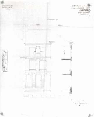 voorgevel - vierde kwart negentiende eeuw - SAG G12 1885-B36 (1885) Beeld: Stadsarchief Gent, opname: 1995