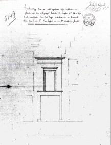 1782 - voorgevel - tweede kwart negentiende eeuw - SAG G12 nr. 5149 (1834) - koetshuis van de Pelikaan in de Sint-Katelijnestraat met links huis van Playsier uit 1782 en rechts trapgevel van nr. 30. Beeld: Stadsarchief Gent, opname: 1995