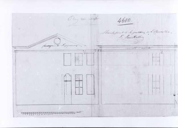 1837 - voorgevels kant Ottogracht en Goudstraat - tweede kwart negentiende eeuw - SAG G12 4600 (1837). Beeld: Stadsarchief Gent, opname: 1995