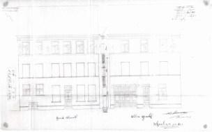 1913 - Voorgevels kant Goudstraat en Ottogracht - eerste kwart twintigste eeuw - SAG G12 1913 F-8 (1913) - Verhoging met een verdieping en deur + dubbele deur aan Ottogracht. Beeld: Stadsarchief Gent, opname: 1995