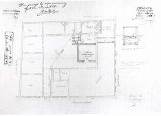 voorgevel en doorsnede - vierde kwart negentiende eeuw - SAG G12 1892 F3 (1892) - zie ook gevels (357). Beeld: Dienst Monumentenzorg, opname: 1995