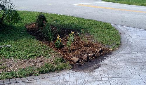 Garden North Side After rain garden installation edited