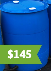 Blue Rain Barrel $145 install and parts included