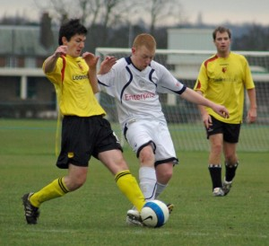 Action from one of the many good games between the two sides