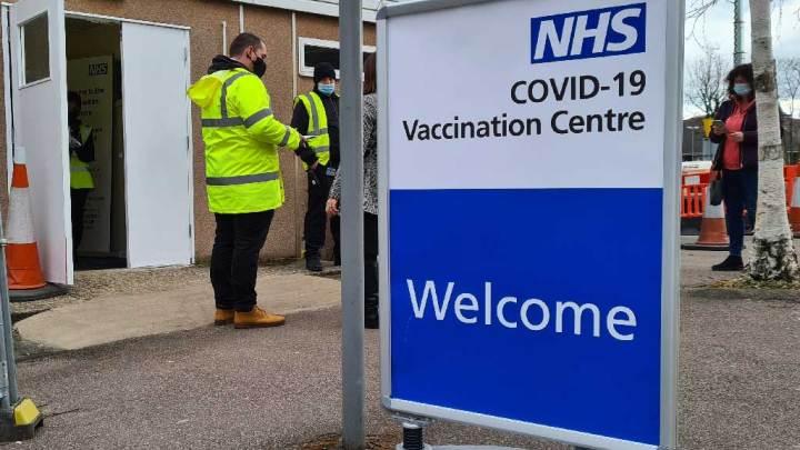 Watford Covid-19 vaccine centre at Watford Town Hall