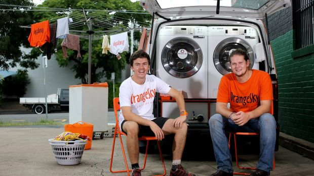 Young Australians of the Year for 2016 and Founders of Orange Sky Laundry, Nic Marchesi and Lucas Patchett.