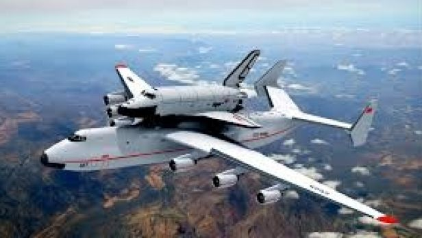 The Antonov An-225 transporting a Russian space shuttle.