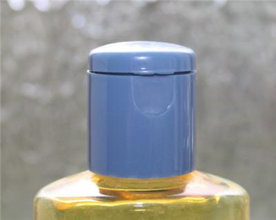 rounded lid of shampoo bottle