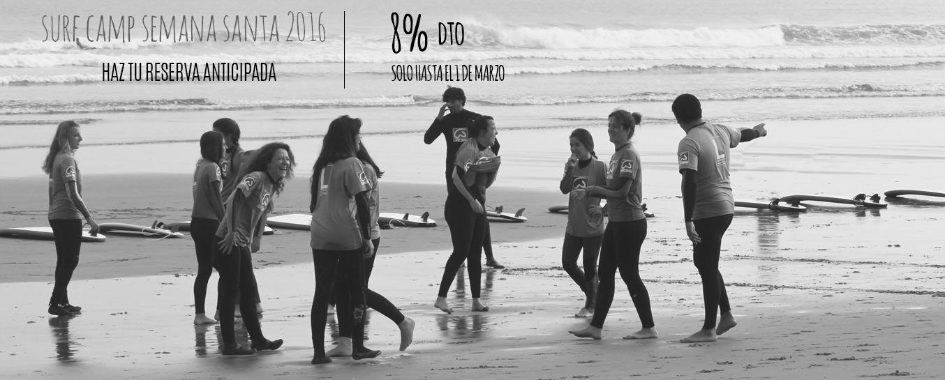 Campamentos de surf Semana Santa 2017