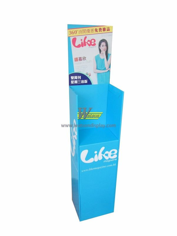 Exhibition Promotion Cardboard Display Stands Magazine