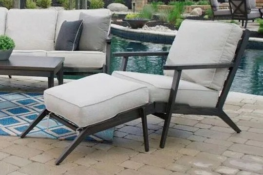 outdoor chair and ottoman folding drawing watson s patio furniture chaise lounge chairs