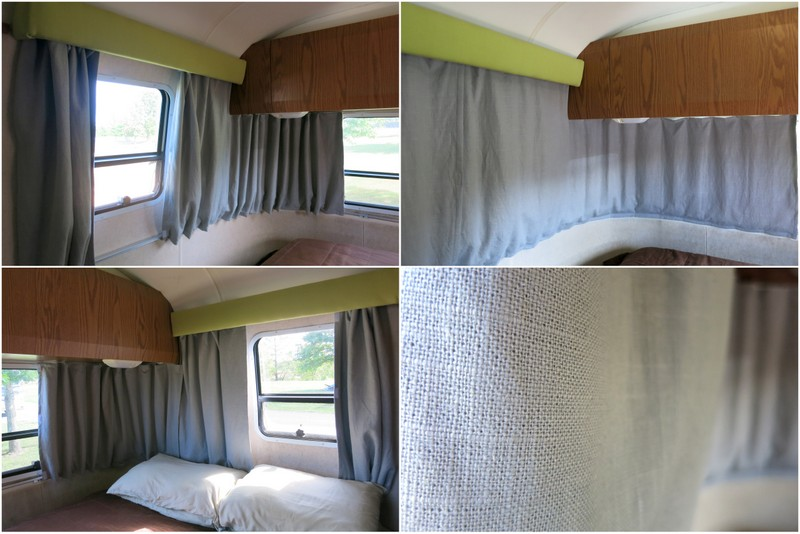 Airstream Updates New Curtains  A Hallway Mini Office