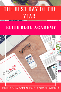 Best Day of the year Elite Blog Academy