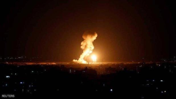 طائرات الاحتلال تشن غارات على غزة والمقاومة تطلق النار عليها