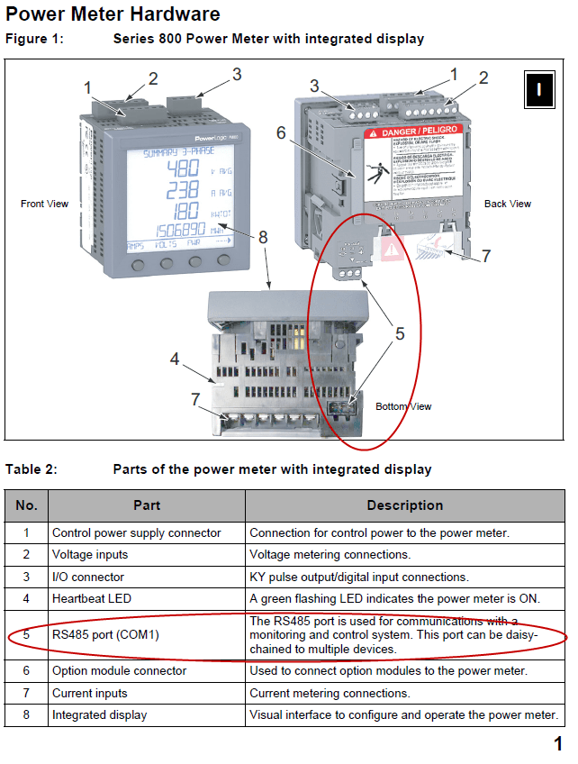 Network Connection Wiring Diagram Connectiong To Powerlogic Pm800 Meters