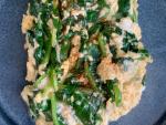 Roerei met spinazie - een super gezond ontbijt