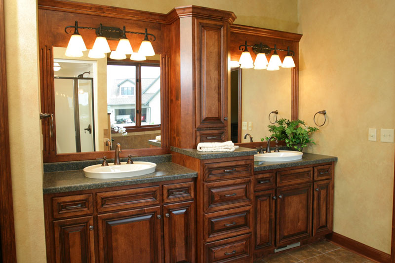 Look! Custom Bathroom cabinets in Minocqua, WI