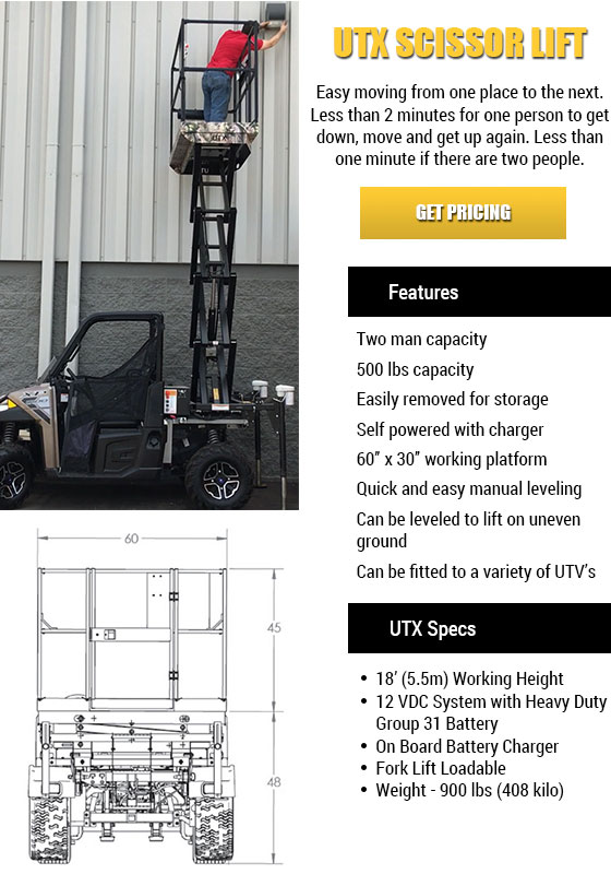 UTX Scissor Lift in Texas