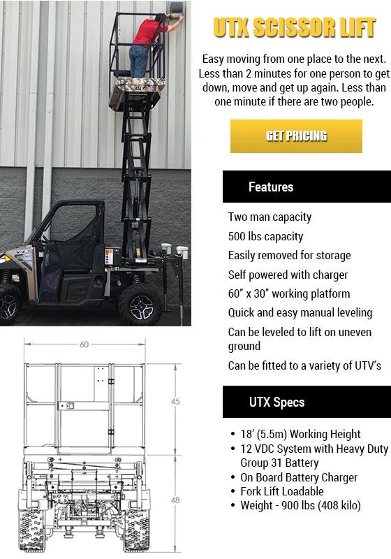 UTV Scissors Lift in Indiana