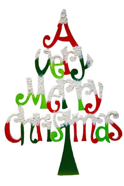merry christmas isolated