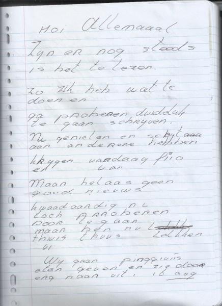 Uit het dagboek