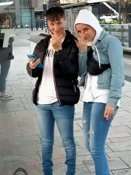 Sharon en Samantha