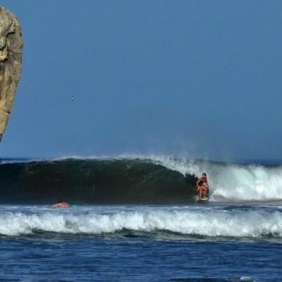 Tine am Witch's Rock in Costa Rica