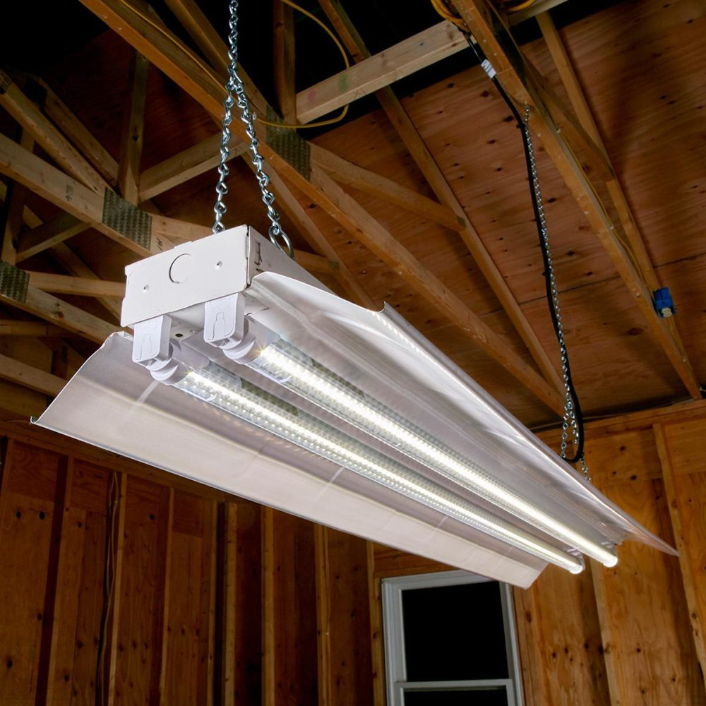 medium resolution of traditional fluorescent shop light fixtures are designed to accommodate 4 ft fluorescent tubes which compared to incandescent bulbs provided longer