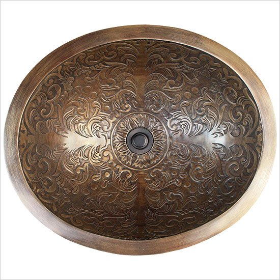 Linkasink Bathroom Sinks  Bronze  B018AB Brocade Oval