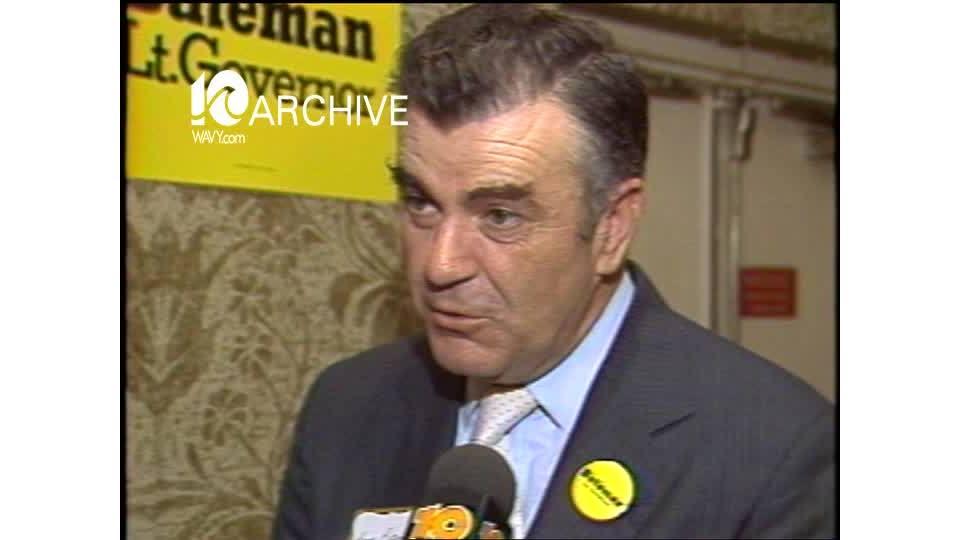 WAVY Archive: 1981 Herb Bateman Lt. Governor