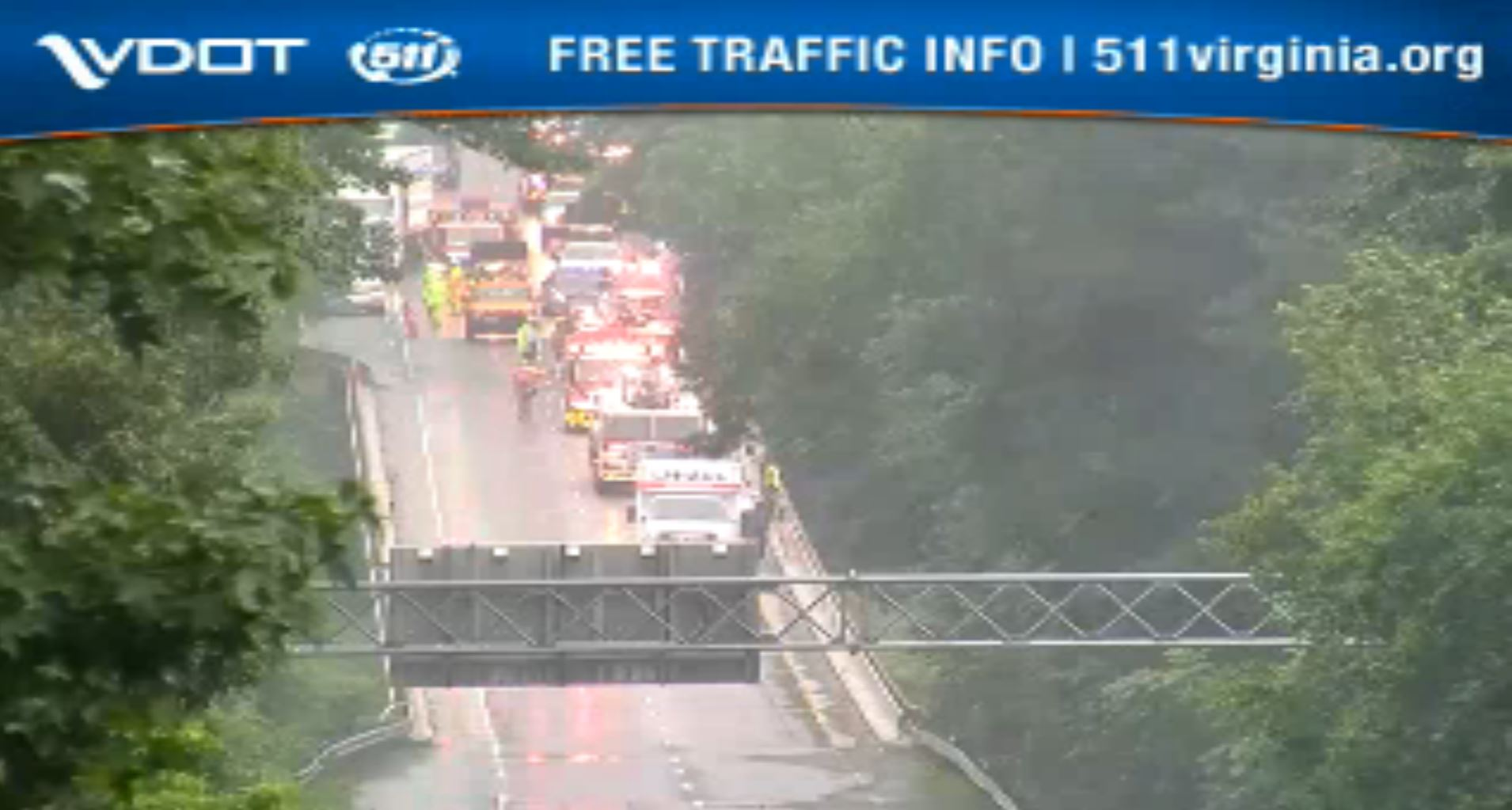 Major delays on I-64 West near Camp Peary due to crash