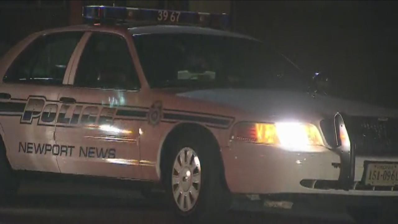 Newport News Police Car Night Generic