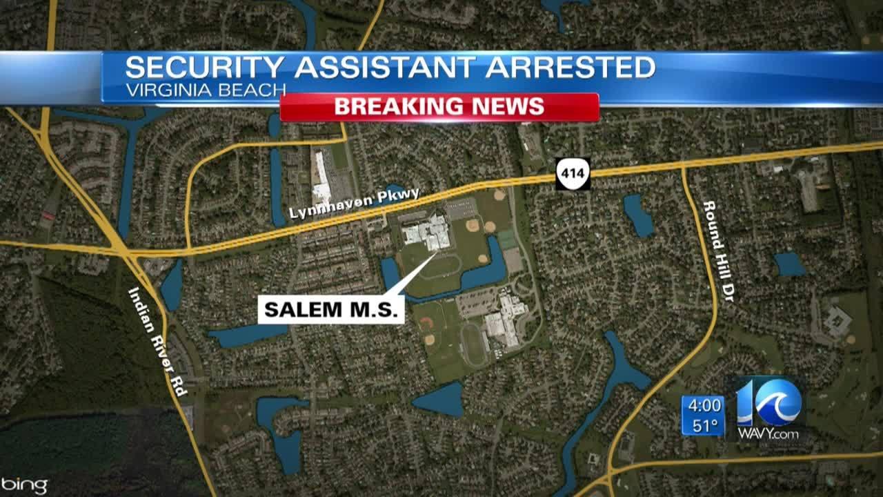 Former Salem Middle security assistant arrested, accused of