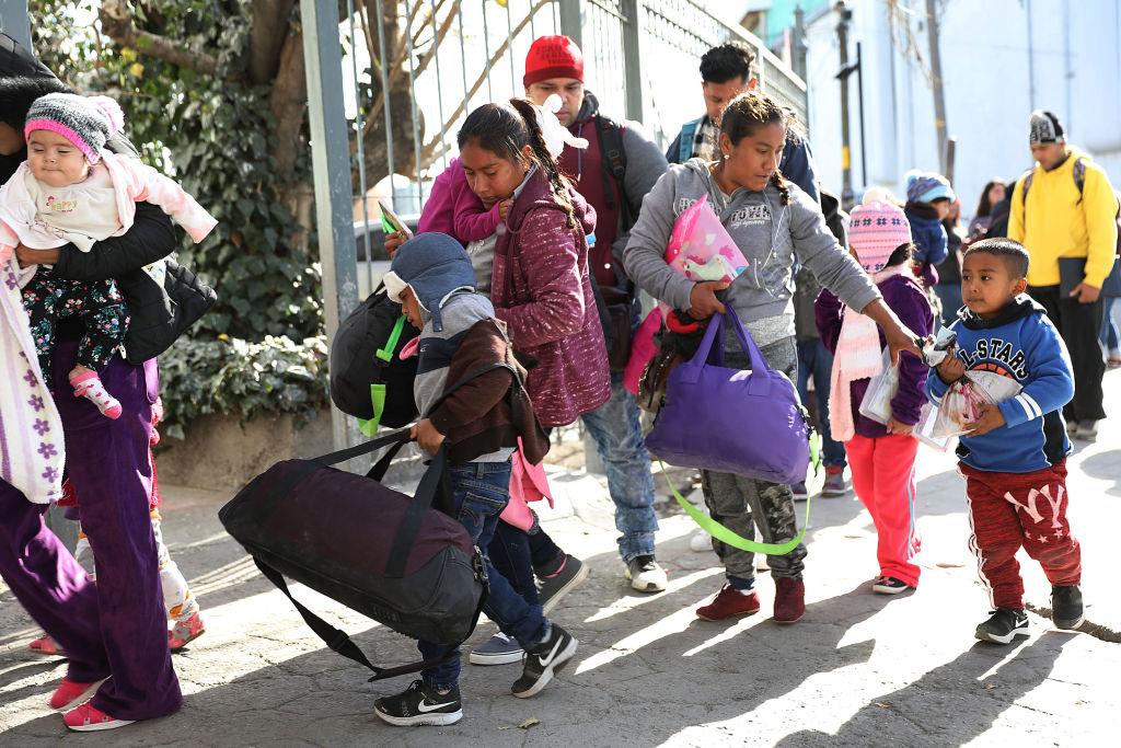 Migrants at U.S. Mexico border