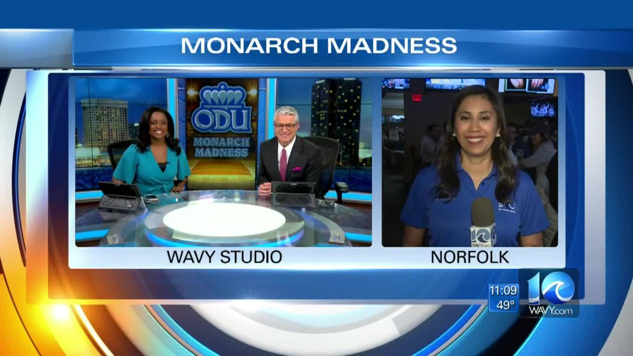 Video: ODU fans gather for NCAA Tournament game watch party