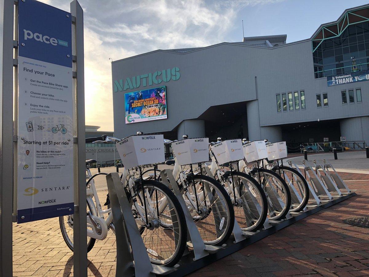 Pace bike share Norfolk